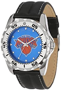 Game Time Mens NBA-WWG-NY New York Knicks Analog Strap Watch and Wallet Set by Game Time