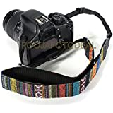SHOPEE Retro Vintage National Wind Cotton Shoulder Neck Stripe Strap Belt For Panasonic For Sony For Nikon For...