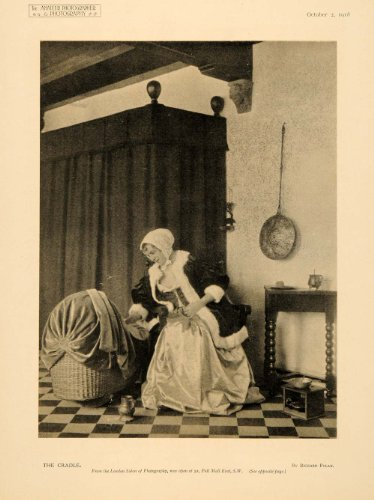 1918 Print Richard Polak Photography Baby Cradle Carriage Mother Bonnet Fashion - Original Duotone Print