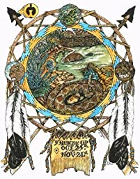 Snake Totem Animals, Freeze Up Moon Totem Art Print (Scorpio) Colored Pencil Drawings of Animal Totems, By Ben Morales.