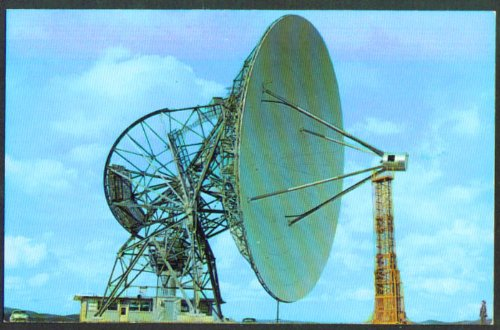 Howard Tatel Telescope Radio Astronomy Observatory Green Bank Wv Postcard 1950S