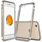 iPhone6s ケース ESR iPhone6 ケース TPUカバー+メタルフレーム メタル/TPU二層構造 耐衝撃 取り出し易い iPhone6/ iPhone6s バンパー iPhone本体と同じ技術 電波の影響無し(オリジナル_ゴールド)