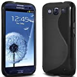 Black WAVE GEL CASE COVER FOR SAMSUNG I9300 GALAXY S3