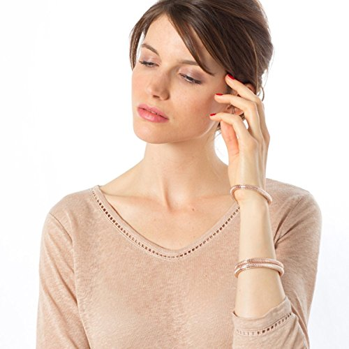 R Essentiel Womens Pure Linen V-Neck T-Shirt, 3/4 Length Sleeves pure color 3 4 sleeves linen blazer