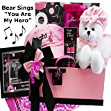Art of Appreciation Gift Baskets Fight Like A Girl Breast Cancer Gift Basket with Singing Teddy Bear