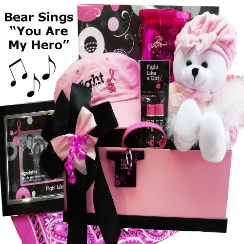 Fight Like A Girl Breast Cancer Gift Basket