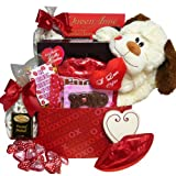 A Big Kiss For You! Plush Puppy Care Package Gift Box - Valentine&#039;s Day