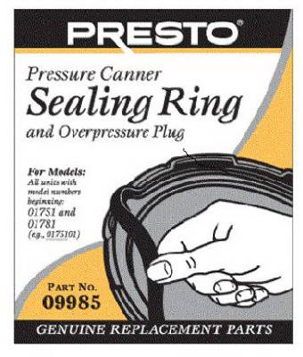 National Presto Ind 09985 Pressure Canner Sealing Ring With Automatic Air Vent by National Presto Ind