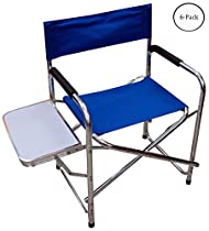 Full-size Aluminum Folding Portable Chair With Fabric Seat & Back : ( Pack of 6 Pcs. )