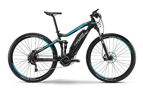 Haibike SDURO FullNine RC E-Bike Elektofahrrad 10-G SLX 11Ah 400Wh E-Mountainbike schwarz/cyan/weiß matt 2015