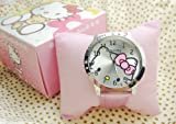 Picture Of Hello Kitty Large Face Quartz Watch Christmas Gift Pink +Kt Watch BOX
