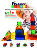Picasso Tiles ® 60 piece set Magnet Building Tiles Clear 3D color Magnetic Building Blocks - Creativity beyond Imagination! - Educational, Inspirational, Conventional, and Recreational!