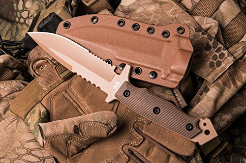 Hardcore Hardware Australia Mfk-04G2 Generation 2 Tactical Fighting Survival Knife Desert G-10 Kydex Sheath