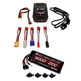 Venom 20C 3S 5000mAh 11.1V LiPo Battery with Universal Plug System and Venom LiPo and NiMH AC Sport Balance Charger Combo by Venom RC