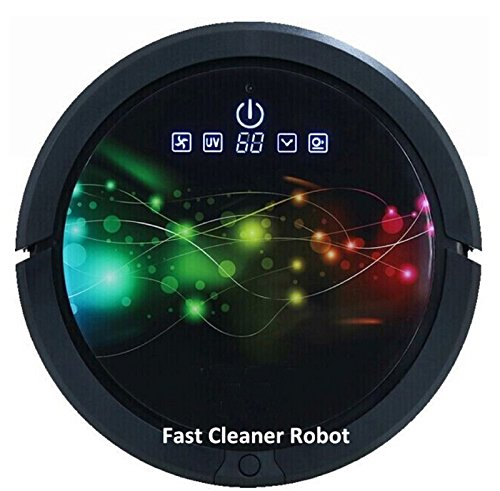 2016 Newest Coming Multifunction (Sweeping Vacuum Sterilize Wet Mop And Dry Mop) Robot Vacuum Cleaner With 150ml Water Tank (Black) (Dry Mop Vacuum compare prices)