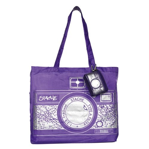 Stache Faltbare Shoppingbag RETRO CAMERA purple