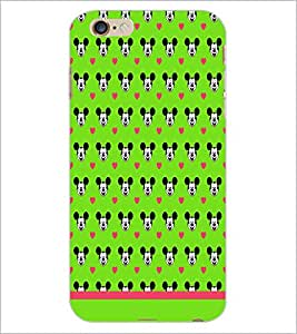 PrintDhaba Mickey Face Pattern D-1596 Back Case Cover for APPLE IPHONE 6 (Multi-Coloured)