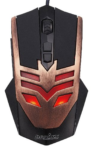 Perixx MX-1000 Copper, Programmable Gaming Mouse - 7 Programmable Button - Omron Micro Switches - Avago 2000DPI A3050 Optical Sensor - Ultra Polling 125-1000 Hz