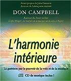 echange, troc Don Campbell - L'harmonie intérieure : La guérison par le pouvoir de la voix et de la musique (1CD audio)