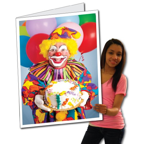 2' x 3' Giant Birthday Card, Creepy Clowns, W/