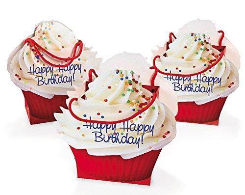 Dozen Paper Birthday Cupcake Gift Bags