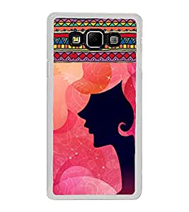 ifasho Designer Phone Back Case Cover Samsung Galaxy A8 (2015) :: Samsung Galaxy A8 Duos (2015) :: Samsung Galaxy A8 A800F A800Y ( Indian Lady Half Face )