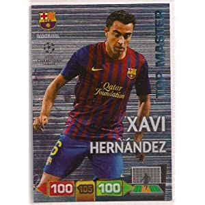 League Adrenalyn 2011 2012 Xavi Hernandez Top Master Barcelona 11 12