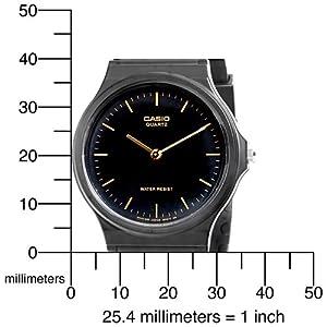 Casio Men's MQ24-1E Black Resin Watch by Casio