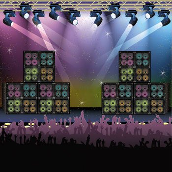 Learn More About Rock Star Backdrop Banner (1 pc)