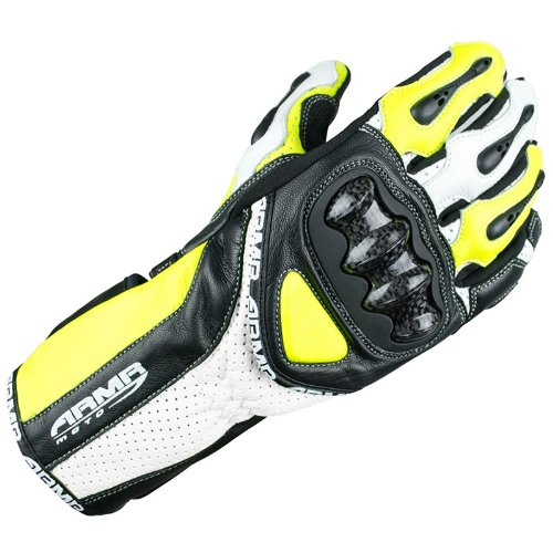 ARMR Moto SHL460 Motorcycle Gloves XL Black/Fluorescent Yellow