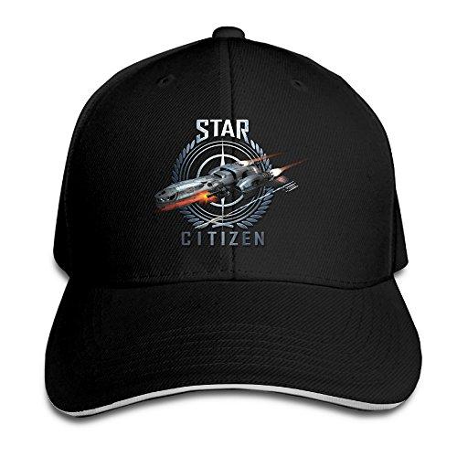 Logon-8-Star-Citizen-Adjustable-Baseball-Cap-Black-One-Size