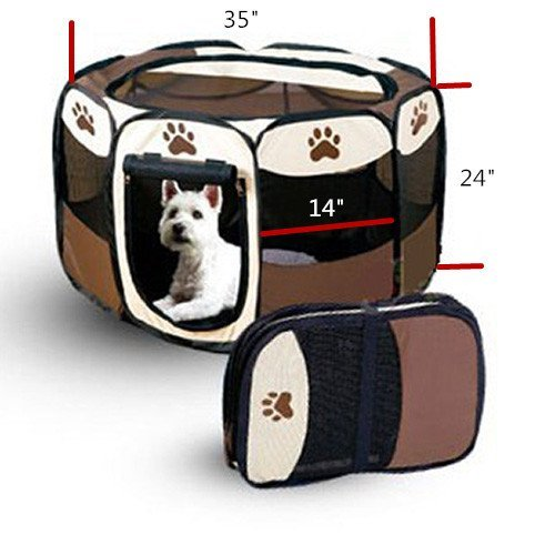 8-Sides-35-Inch-Pet-Tent-Outdoor-Portable-Cat-Dog-Playpen-Foldable-Pop-Up-Camping-Tent-for-Puppy-by-Generic