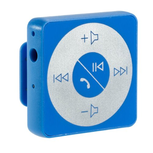 Abco Tech Bluetooth Hands-Free Calling & A2Dp Audio Streaming Adapter/Receiver For 3.5Mm Devices, Blue
