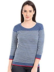Manola Blue and White Striped Top