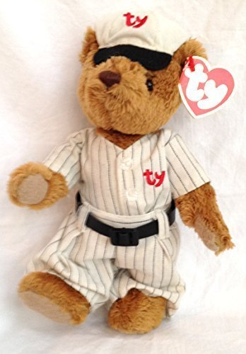 "Ty Attic Treasures Cooper 8"" Plush Baseball Bear - 1"
