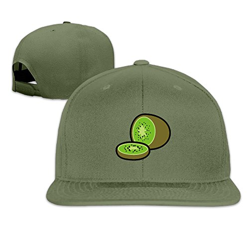 Cartoon Fresh Fruit Kiwi Snapback Baseball Hip Hop Unisex Hat ForestGreen (Purple Fruit Seeds compare prices)
