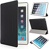 iHarbort® Apple iPad Air 2 Case - Multi-Angles Smart Cover Holder Stand Leather Case for Apple iPad Air 2 2014 (6th Generation), With Sleep/ Wake Up Function (iPad Air 2, Black)
