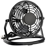 LingsFire® 360 Degree Rotation Ultra-quiet USB Powered Plastic Mini Housing Summer Electric Cooling Fan for PC /Laptop /Notebook ('Black)