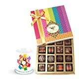 Valentine Chocholik Belgium Chocolates - Creative Truffles Collection Of Chocolates With Friendship Mug