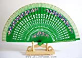 """Spanish Style Hand Painted Fans - 9"""" x 16.5"""" FB166"""