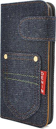 赤タグがかわいいデニムの手帳型iPhone 7用ケースが840円