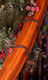 Decorative Garland Twist Ties - Brown