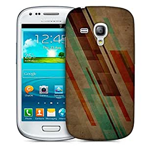 Snoogg Brown Background Design Printed Protective Phone Back Case Cover For Samsung S3 Mini / S III Mini