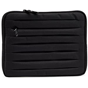 AmazonBasics Pleated Sleeve for Apple iPad - Black (Compatible with New 3rd / 4th Generation iPad Models)
