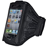 EMarkooz(TM) New BLACK ARMBAND SPORTS RUNNING CYCLING JOGGING ARM CASE FOR IPHONE 3GS/4/4G/4S