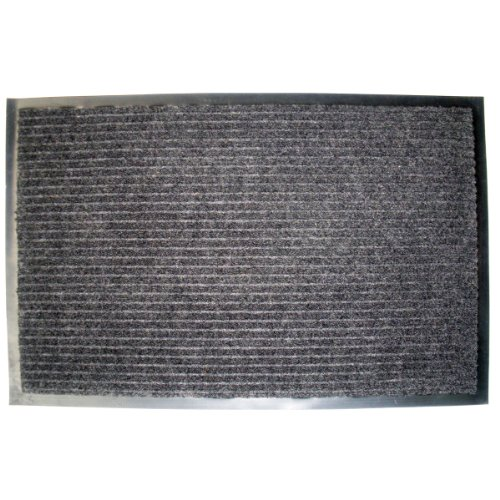 J & M Home Fashions Ribbed Utility Mat, 30-Inch by 48-Inch, Charcoal (Black Outdoor Mat compare prices)