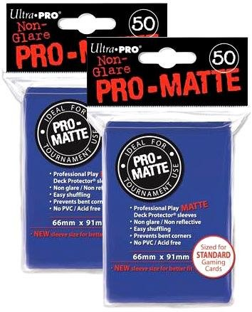 Ultra Pro PRO-MATTE (100 Count) Blue Deck Protector Sleeves - Magic the Gathering