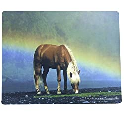 Intrepid International Mouse Pads with Horse Motif, Icelandic Rainbow