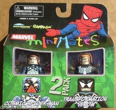 Picture of Art Asylum MARVEL MINIMATES COSMIC SPIDER-MAN AND TRANSFORMATION VENOM ACTION FIGURE 2 PACK (B001QMNZPI) (Spider-Man Action Figures)