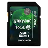 Kingston 16GB Class 10 SD SDHC Memory Card For Toshiba Camileo P20 Camcorder